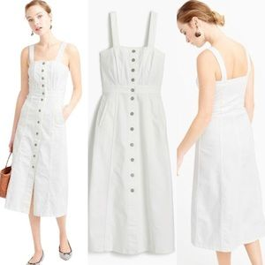 ✨ J. Crew Button Front Dress in White Denim ✨